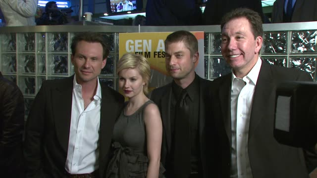 christian slater elisha cuthbert jamison jones and frank cappello at the twelfth annual gen art film festival at clearview's chelsea west theater in... - cappello stock videos and b-roll footage