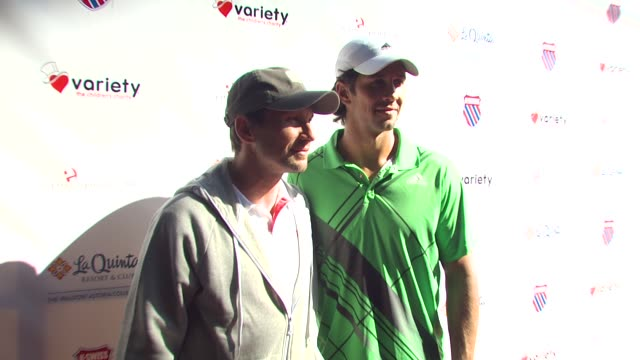 Christian Slater Fernando Verdasco at the 6th Annual KSwiss Desert Smash at La Quinta CA