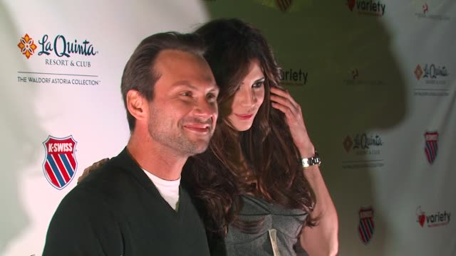 Christian Slater Hope Dworaczyk at the 6th Annual KSwiss Desert Smash at La Quinta CA