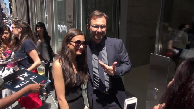 christian slater leaving siriusxm satellite radio poses for photos and signs for fans in celebrity sightings in new york - christian slater stock videos & royalty-free footage