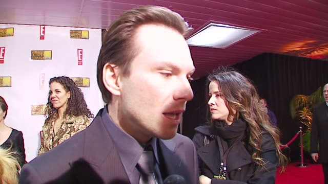 christian slater on presenting on his oscar picks at the broadcast film critics association's 2007 critic's choice awards at santa monica civic... - christian slater stock videos & royalty-free footage