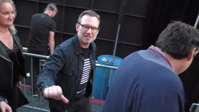 christian slater outside the spider-man far from home premiere at tcl chinese theatre in hollywood in celebrity sightings in los angeles, - tcl chinese theatre stock videos & royalty-free footage