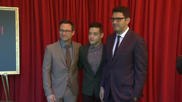 christian slater rami malek and sam esmail at the 16th annual afi awards at the four seasons hotel los angeles at beverly hills on january 08 2016 in... - christian slater stock videos & royalty-free footage
