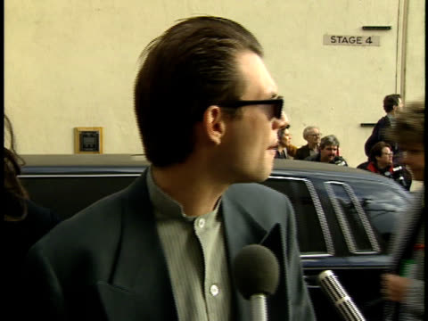christian slater speaking to reporters talking about nomination and role models nn - christian slater stock videos & royalty-free footage