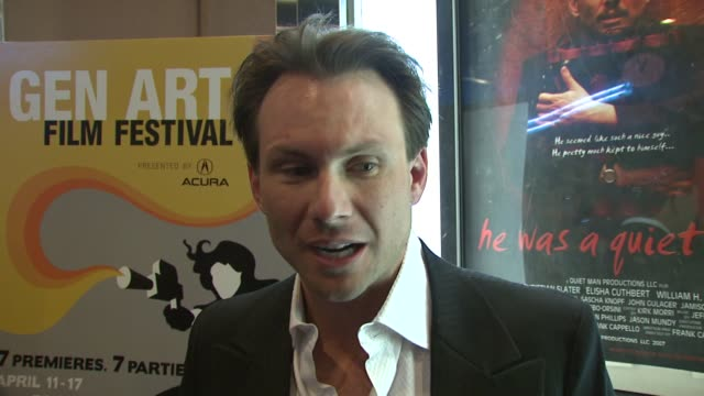 Christian Slater talks about getting ready for his role which was physically challenging transforming into his character and his condolences to the...