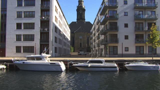 ws, tu, christians kirke, copenhagen, denmark - spire stock videos and b-roll footage