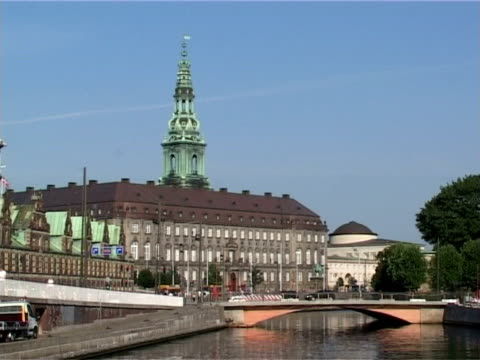 christiansborg - the danish parliament in copenhagen, denmark - parliament building stock videos & royalty-free footage