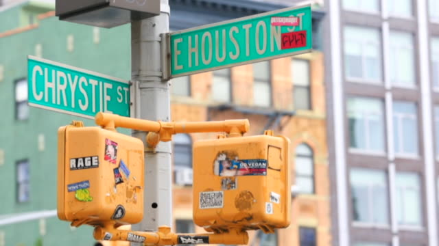 Christie and E Houston Street Sign