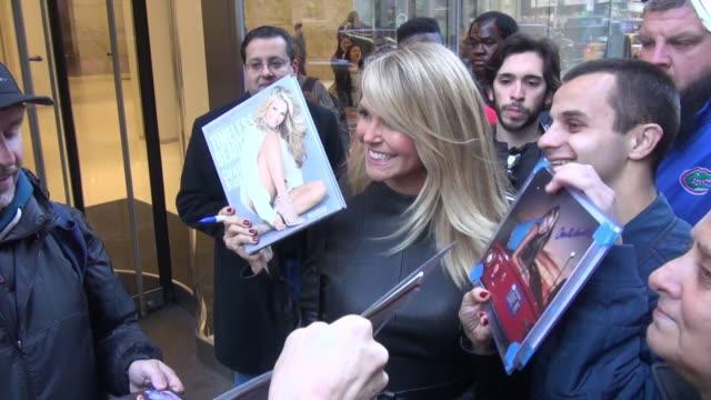 Christie Brinkley at SiriusXM Satellite Radio Celebrity Sightings November 9 2015 in New York City New York