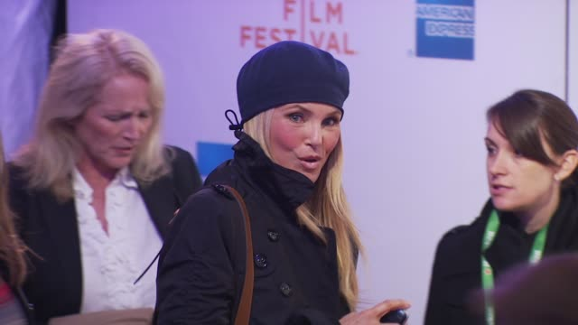 christie brinkley at the premiere of 'last play at shea' - 9th annual tribeca film festival at new york ny. - basco video stock e b–roll