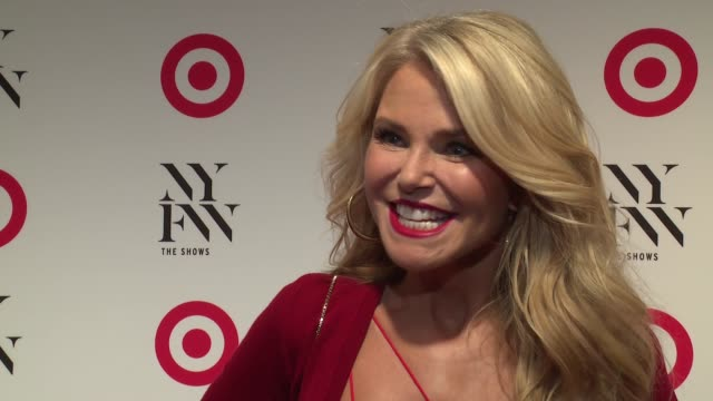 INTERVIEW Christie Brinkley loves Target at Target IMG NYFW KickOff Event at The Park at Moynihan Station on September 06 2016 in New York City