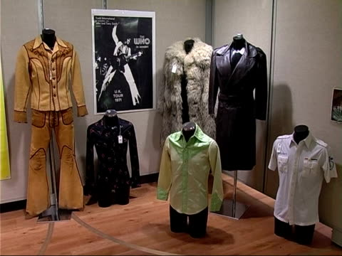 christie's rock and pop memorabilia auction england london south kensington christie's int various of exhibits from rock and pop memorabilia auction... - music poster stock videos & royalty-free footage