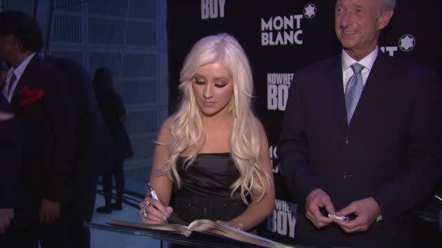 Christina Aguilera and Lutz Bethge at the Global Launch Of The Montblanc John Lennon Edition at New York NY