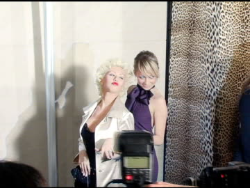 christina aguilera and nicole richie at the unveiling of roberto cavalli's beverly hills location at roberto cavalli boutique in los angeles,... - nicole richie stock videos & royalty-free footage