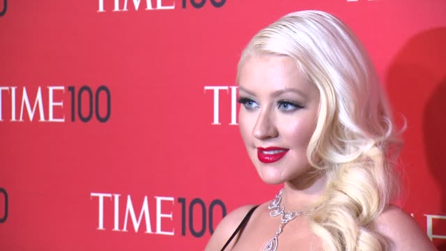 christina aguilera at 2013 time 100 gala arrivals at frederick p rose hall jazz at lincoln center on april 23 2013 in new york new york - christina aguilera stock videos & royalty-free footage