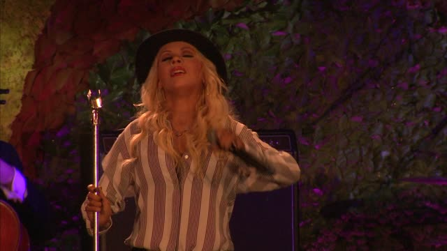 PERFORMANCE Christina Aguilera at Hollywood Stands Up To Cancer on in Los Angeles California