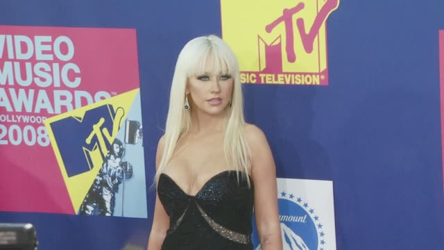 Christina Aguilera at the 2008 MTV Video Music Awards at Los Angeles CA