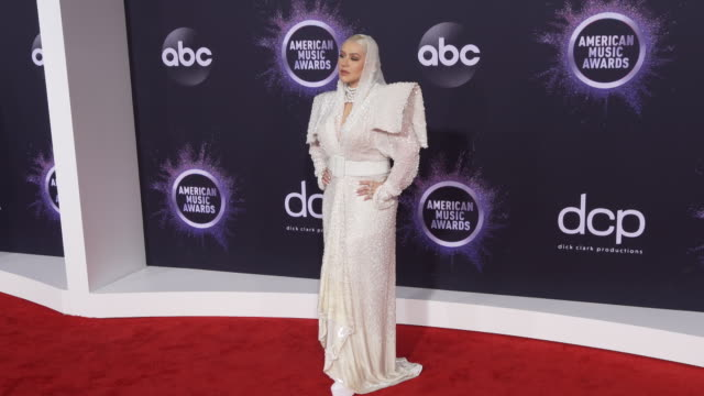 christina aguilera at the 2019 american music awards at microsoft theater on november 24 2019 in los angeles california - american music awards stock videos & royalty-free footage