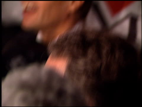vídeos de stock, filmes e b-roll de christina aguilera at the bmg grammy awards party arrivals on february 25 2002 - 2002