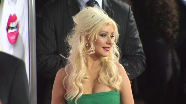 christina aguilera at the 'burlesque' premiere at hollywood ca - burlesque stock videos & royalty-free footage