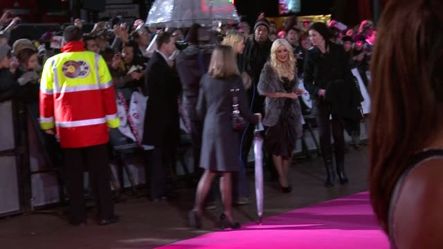 christina aguilera at the burlesque uk premiere at london england - burlesque stock videos & royalty-free footage