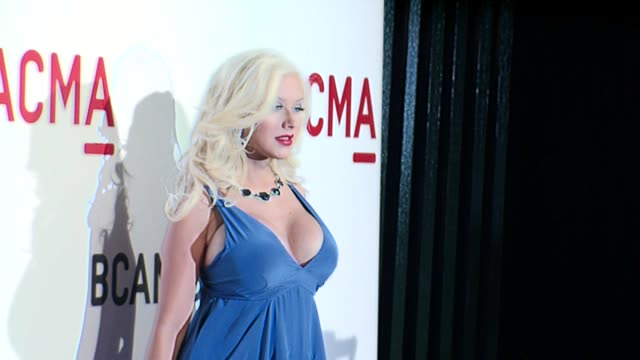 christina aguilera at the lacma opening at the broad contemporary art museum in los angeles california on february 9 2008 - christina aguilera stock videos & royalty-free footage