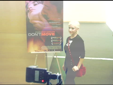 christina aguilera at the special screening of 'don't move' at clarity screening room in beverly hills california on march 13 2005 - 2005 stock-videos und b-roll-filmmaterial