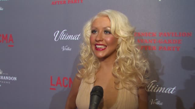 christina aguilera on her involvement at tonight's grand opening her passion for the arts at the lacma presents 'the unmasking' at los angeles ca - christina aguilera stock videos & royalty-free footage