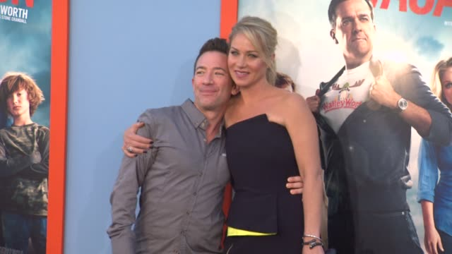 christina applegate and david faustino at the vacation los angeles premiere at regency village theatre on july 27 2015 in westwood california - regency village theater stock videos and b-roll footage