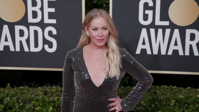 christina applegate at 77th annual golden globe awards at the beverly hilton hotel on january 05, 2020 in beverly hills, california. - golden globe awards stock videos & royalty-free footage