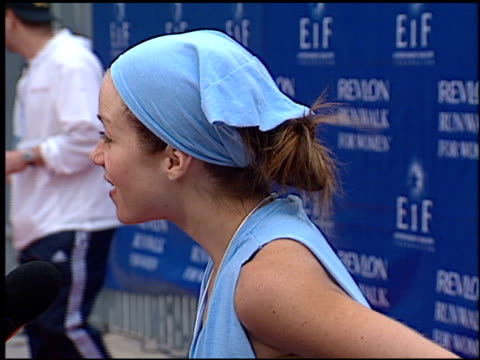 christina applegate at the revlon run/walk for women at coliseum in los angeles, california on may 12, 2001. - revlon stock videos & royalty-free footage
