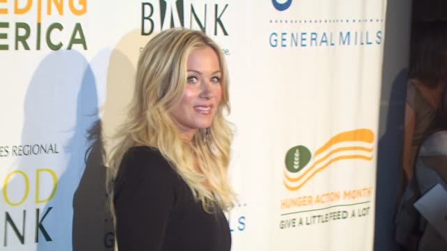 christina applegate at the 'rock a little, feed a lot' benefit concert at los angeles ca. - benefit concert stock videos & royalty-free footage