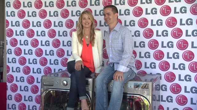 christina applegate james fishler at lg electronics hosts '20 magic minutes a mega celebration' to launch the new megacapacity turbowash washer... - washer stock videos and b-roll footage
