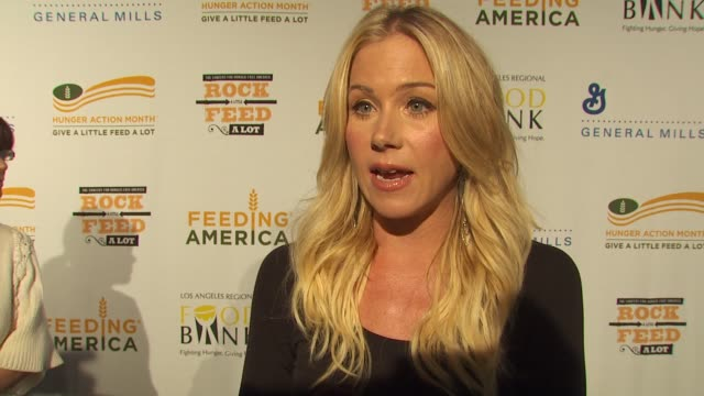 Christina Applegate on being a part of the night what performance she's most looking forward to at the 'Rock A Little Feed A Lot' Benefit Concert at...