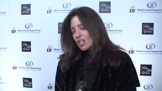 christina carlino on being a part of the evening and the work eif's women's cancer research fund does, philosophy's involvement with eif's women's... - philosophy stock videos & royalty-free footage