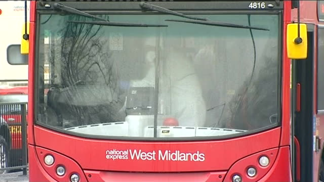 stockvideo's en b-roll-footage met man arrested and sectioned lib birmingham ext police and forensic officer beside number 9 double decker bus police officers searching undergrowth - number 9