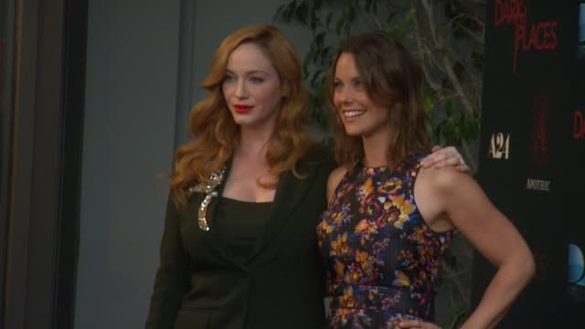 christina hendricks and ashley williams at the dark places los angeles premiere at harmony gold theatre on july 21 2015 in los angeles california - christina hendricks stock videos and b-roll footage
