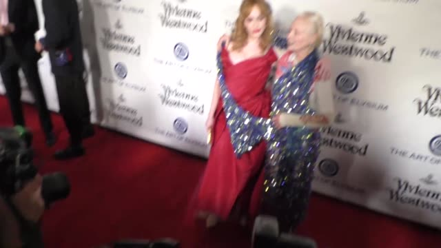 Christina Hendricks and Vivienne Westwood at The Art of Elysium's 9th Annual HEAVEN Gala at 3LABS in Culver City at Celebrity Sightings in Los...