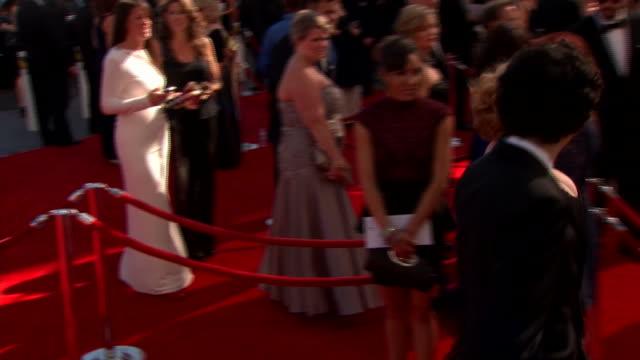 christina hendricks arrives at the 2013 emmy awards. - emmy awards stock videos & royalty-free footage
