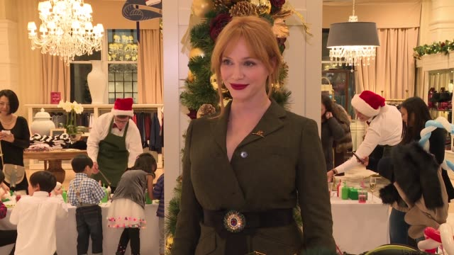 christina hendricks at brooks brothers celebrates the holidays with st jude children's research hospital at brooks brothers on december 13 2016 in... - st. jude children's research hospital stock videos and b-roll footage