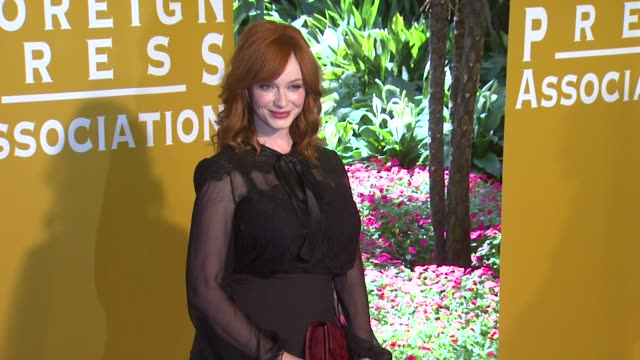 christina hendricks at hollywood foreign press association annual luncheon on 8/9/2012 in beverly hills ca - christina hendricks stock videos and b-roll footage