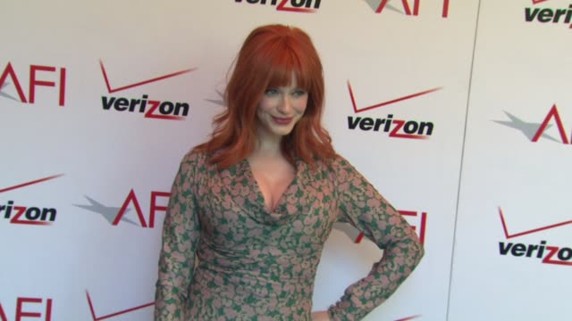 christina hendricks at the 13th annual afi awards luncheon in beverly hills ca on 1/11/13 - christina hendricks stock videos and b-roll footage