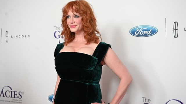 christina hendricks at the 44th annual gracie awards on may 21 2019 in los angeles california - christina hendricks stock videos and b-roll footage