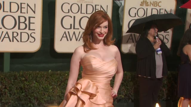 christina hendricks at the 67th annual golden globe awards arrivals part 4 at beverly hills ca - christina hendricks stock videos and b-roll footage
