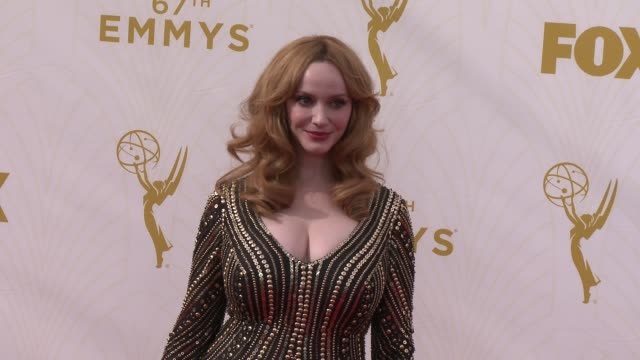 christina hendricks at the 67th annual primetime emmy awards at microsoft theater on september 20 2015 in los angeles california - christina hendricks stock videos and b-roll footage