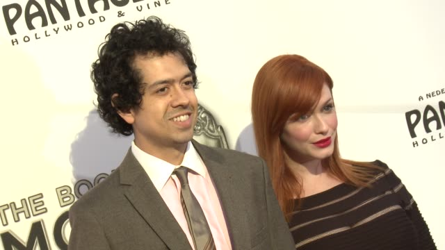 christina hendricks at the book of mormon los angeles opening night on 9/12/12 in los angeles, ca - mormonism stock videos & royalty-free footage