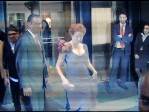 christina hendricks at the carlyle hotel prior to attending the metropolitan museum of art costume gala in new york at the celebrity sightings in new... - christina hendricks stock videos and b-roll footage