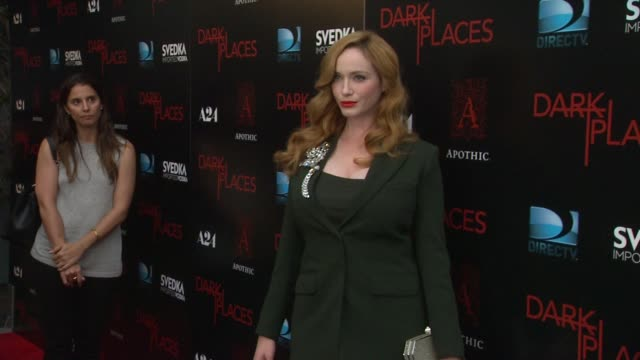 christina hendricks at the dark places los angeles premiere at harmony gold theatre on july 21 2015 in los angeles california - christina hendricks stock videos and b-roll footage