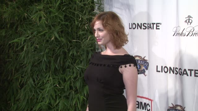 christina hendricks at the lionsgate presents the live revue a night on the town with 'mad men' at los angeles ca - revue stock videos and b-roll footage