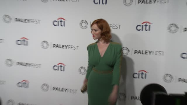 christina hendricks at the mad men panel paleyfest 2014 at dolby theatre on march 21 2014 in hollywood california - the dolby theatre stock videos & royalty-free footage
